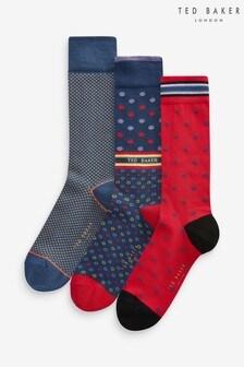 Ted Baker Multi Socks Three Pack