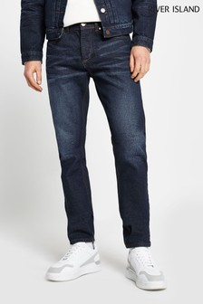 River Island Blue Premium Slimmy Grant Trousers