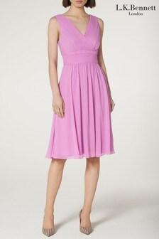 L.K.Bennett Purple Lori Dress