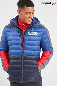 Superdry Navy Colourblock Fuji Padded Jacket