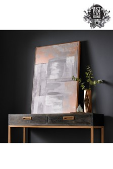 Rose Gold Glow Canvas by Art For The Home