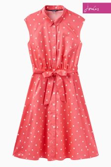 Joules Red Sky Spot Alisandra Dress