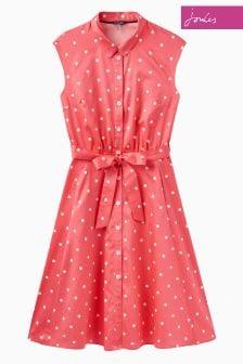 Joules Red Sky Spot Alisandra Dress