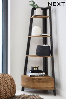 Home Garden Tree Bookshelf 9 Shelf Metal Bookcase Stand Display