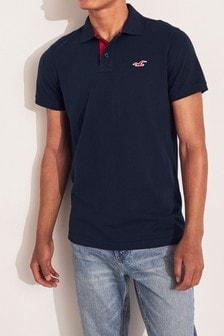 Hollister Navy Basic Poloshirt