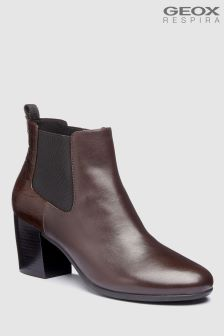 Geox New Lucinda Coffee Leather Chelsea Boot