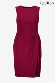 Lauren Ralph Lauren Rapsberry Drape Talen Dress
