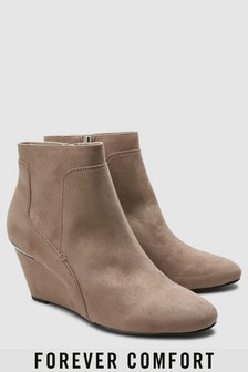 Forever Comfort Wedge Ankle Boots