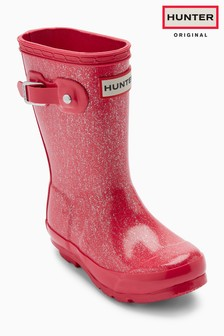 Cizme de cauciuc cu sclipici Hunter Original roz
