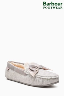 Barbour® Grey Sadie Moccasin Slipper