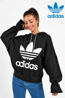adidas Originals Black Tie Detail Hoody