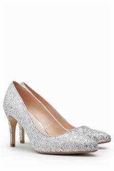 Ladies Next silver sparkly heels size 7 41