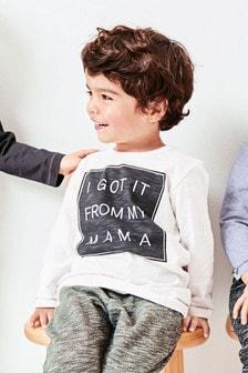 Camiseta de manga larga (3 meses-7 años)