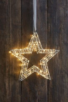 Lit Outdoor Star Decoration