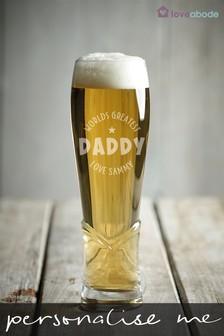 Personalised Daddy Craft Beer Glass by Loveabode