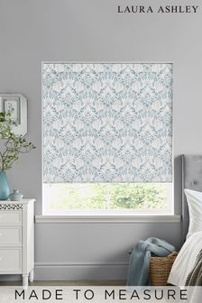 Laura Ashley Parterre Off White Seaspray Made to Measure Roman Blind