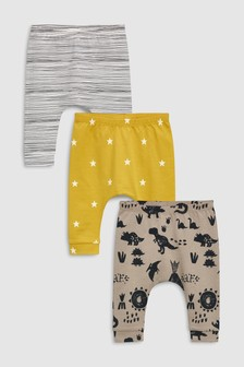 Dinosaur Leggings Three Pack (0mths-2yrs)