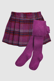 Checked Kilt And Tights Set (3mths-6yrs)