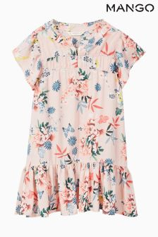 Mango Kids Pink Floral Dress
