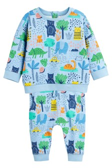 Print Jumper And Jogger Set (0mths-2yrs)