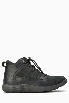 Timberland® Black FlyRoam Leather Hiker Boot
