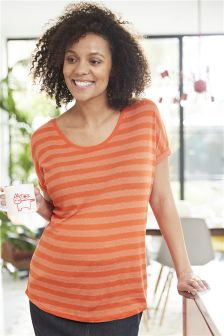 Maternity Metallic Stripe T-Shirt
