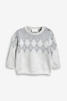 Argyle Knitted Jumper (0mths-2yrs)