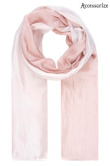 Accessorize Pink Silk Ombre Scarf