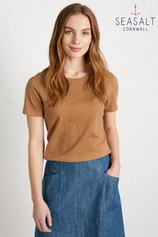 Seasalt Brown Reflection T-Shirt
