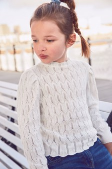 Pointelle Jumper (3-16yrs)