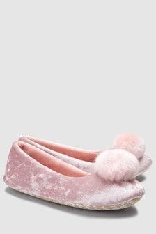 Pom Ballerina Slippers