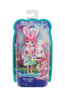Enchantimals Bree Bunny Doll 6 Inch and Twist Animal Figure