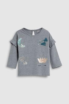 Marl Moon Print Top (3mths-6yrs)