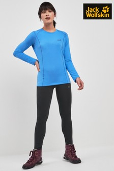 Jack Wolfskin Black Hollow Base Layer Tight