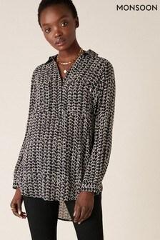 Monsoon Printed Longline Shirt