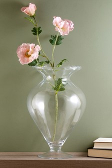 Footed Glass Vase