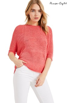 Phase Eight Pink Aideen Knitted Jumper
