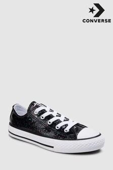 Converse Black Glitter Ox