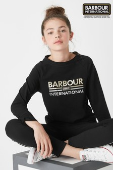 Barbour® International Black Bowden Tee