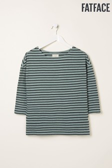FatFace Green Lucille Stripe Top