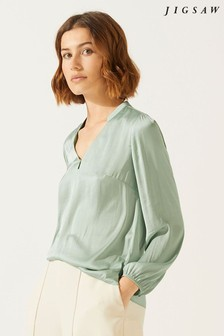 Jigsaw Crocus Drape Top