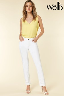 Wallis White Harper Straight Jean