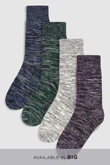 Lot de quatre paires de chaussettes épaisses colorées
