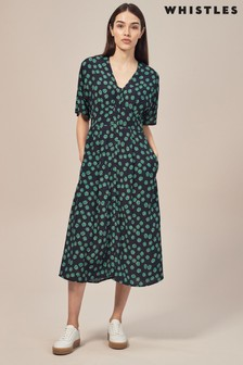 Whistles Lenno Print Naya Button Dress