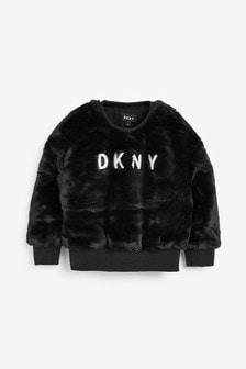 DKNY Faux Fur Sweater