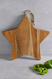 Wooden Star Serve Board