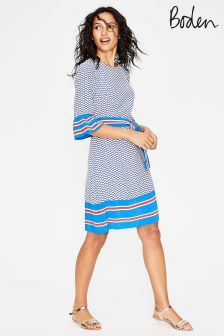 Boden Blue Andrea Belted Dress