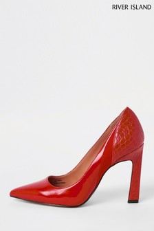 River Island Red Print Court Shoe
