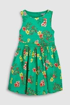 فستان طباعة زهور (3-16 سنة)
