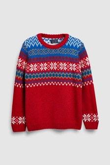 Fairisle Pattern Knitted Crew (3-16yrs)